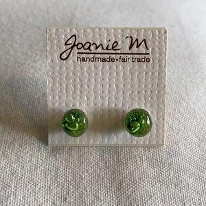 🥳Host Pick🥳Green Glass Stud Earrings